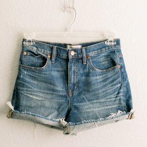 MADEWELL- High-Rise Denim Cutoff Shorts (S27)